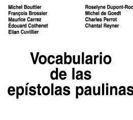 varios autores - vocabulario de las epistolas paulinas